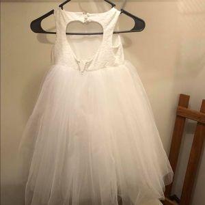 soft white flower girl dresses